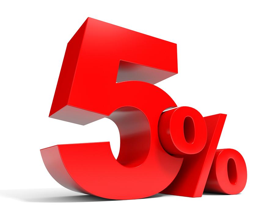 Team 5% Logo