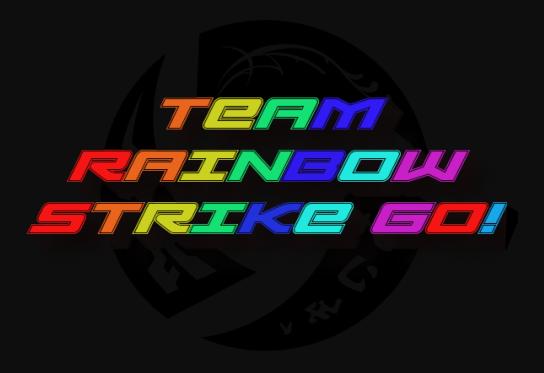 Team Rainbow Strike Go! Logo