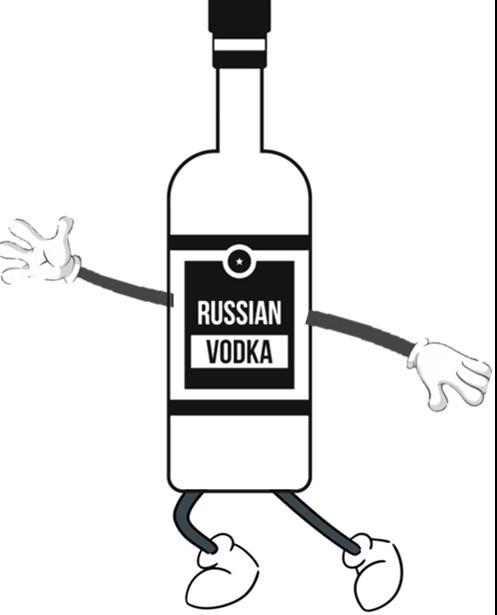 Russia vodka run Logo