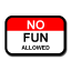 No Fun Allowed Logo
