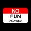 No Fun Allowed Logo
